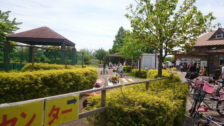戸田川緑地のおもしろ自転車