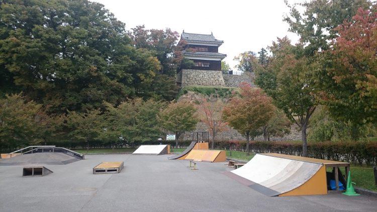 上田城スケートボードパーク