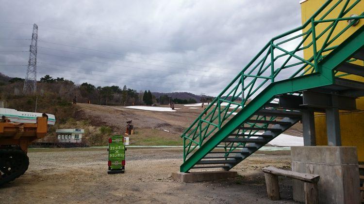 スキー場の雪はなくなってる