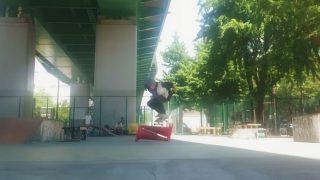 若宮スケートパークでセットコーン越え