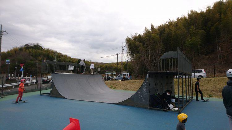 田辺公園スケートパークのランプ
