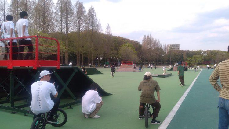 庄内緑地公園スケートパークセクションエリア