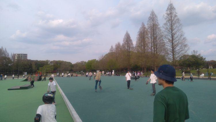 庄内緑地公園スケートパークフラットエリア