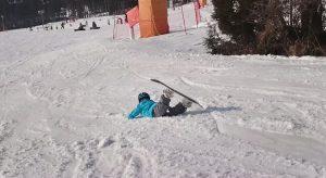 転んでもスノーボード頑張るじょに次郎