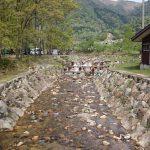 マキノ高原キャンプ場 林間サイトの横の川