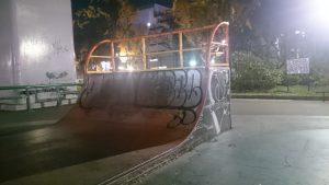 若宮スケートパークのミニランプ